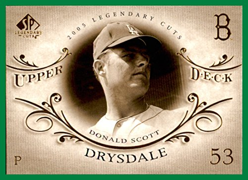 2005 SP Legendary Cuts #18 Don Drysdale brooklyn dodgers ()