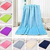 Weiliru Fashion Solid Soft Throw Kids Blanket Warm Coral Plaid Blankets Flannel, 50×70cm(Yellow,Grey,Pink) Care Your Baby