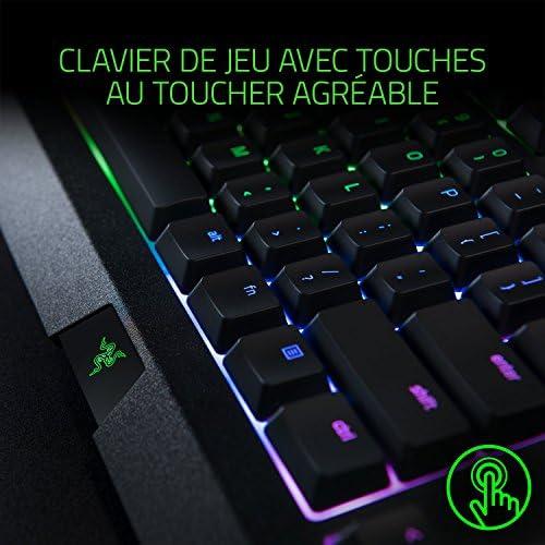 Razer Cynosa Chroma -  Gaming Clavier avec éclairage Razer Chrome avec LED RGB, USB, Rétroéclairage personnalisable  16,8 millions de couleurs - Noir - FR Layout