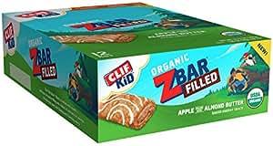 CLIF KID ZBAR FILLED - Organic Energy Bar - Apple Almond Butter (1.06 Ounce Snack Bar, 12 Count)