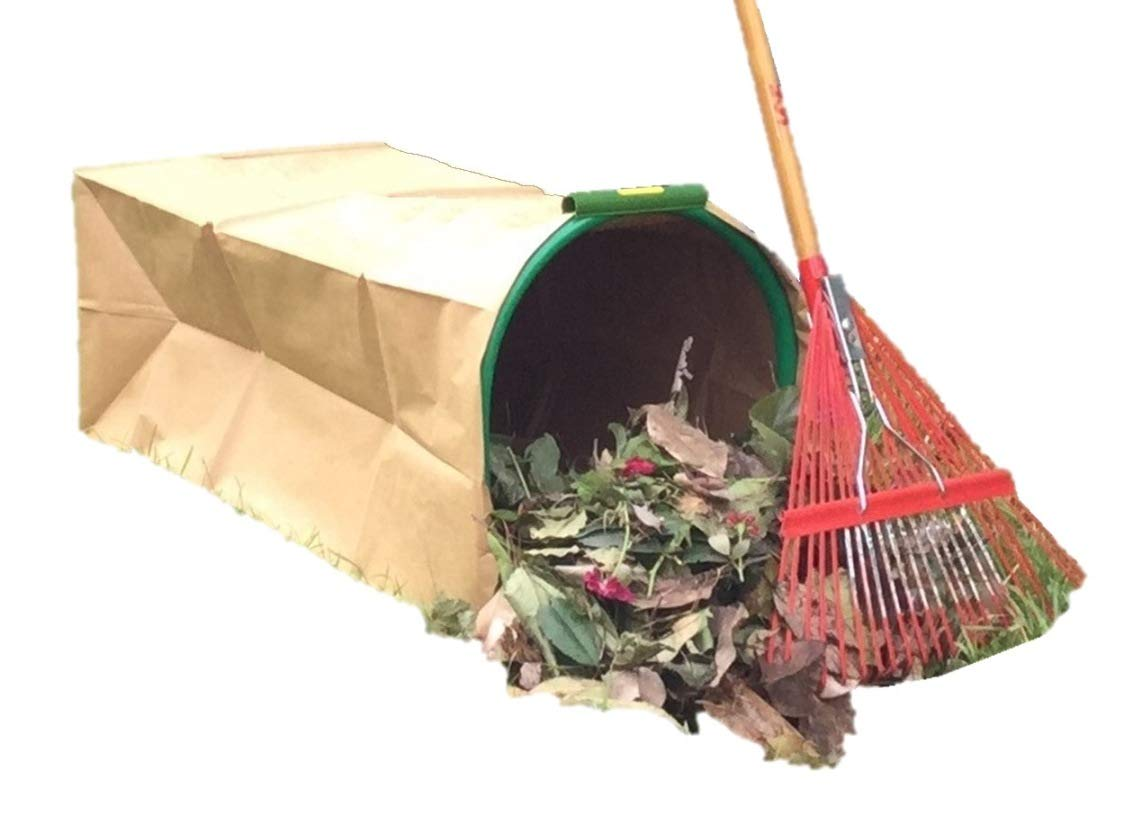 LEAF GULP II Lawn and Leaf Bag Holder Turns a Paper Lawn and Leaf Bag into a Hands-Free Dustpan Making Yard Clean Up a Snap. Made in USA. by LEAF GULP