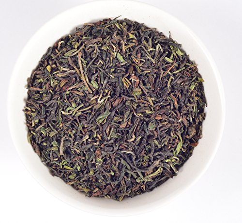 Exquisite Superior Darjeeling Tea Muscatel Clonal Organic Indian Loose Leaf Black Chai Pure Garden Fresh Leaves (makes 50 to 500 cups) #33 Spiced Vanilla 16 Oz Jar