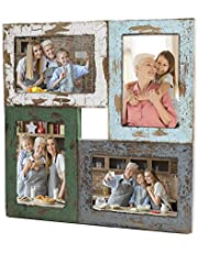 4x6 Picture Frame Collage Four Photo Picture Collage Frames With A Rustic Farmhouse Finish