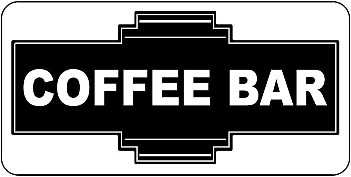 Vintage Retro Coffee Self Adhesive Vinyl Sticker