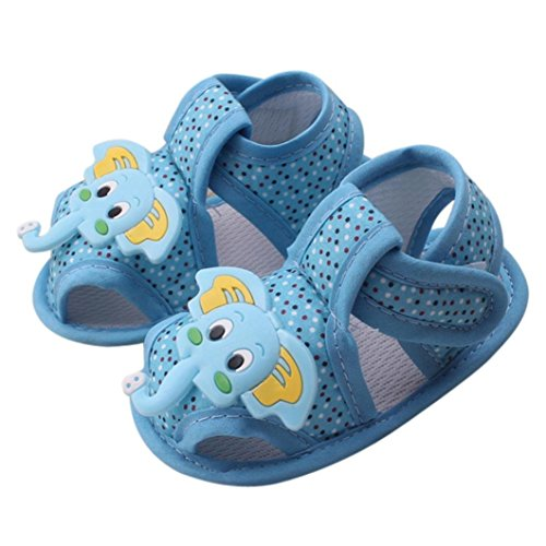 Tallahassee Cartoon Elephant Pattern Baby Soft Sole Shoes Toddler Sandals