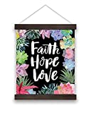 Studio Oh! Canvas Wall Banner, Faith Hope Love Succulents (WH004)