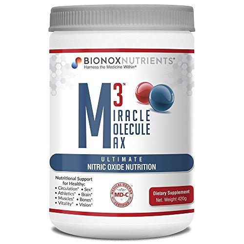 BioNox Nutrients óxido nítrico Superior - M3 Miracle Molecule Max - Suplemento con Arginina y Citrulina - para Salud Cardiovascular - 60 Cucharadas