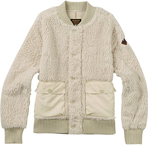 Burton Women's Shawmut Fleece Sweater, Bone White, Small