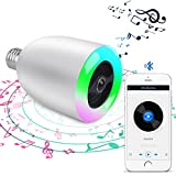 Demetory Smart Bluetooth Music Wireles Bluetooth Speaker Lamp E27 Stereo Surround Sound LED Light Bulb Speaker (White) For Sale