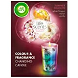 Airwick Life Scents Colour & Fragrance Changing Candle Air Freshener Summer Delights Case Of 4