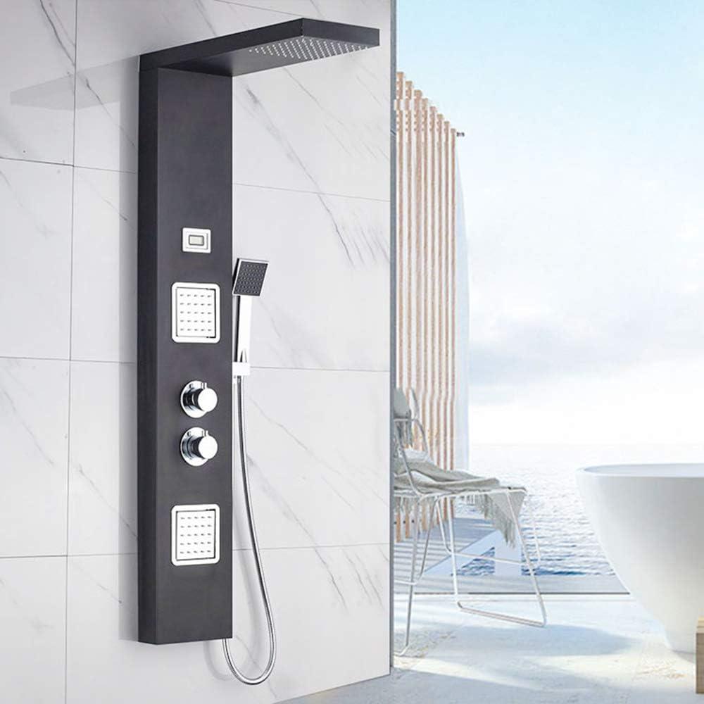 shower set Sistema de Torre de mampara de Ducha Control de termostato Cuatro Modos de Agua Seguro Anti-escaldado baño de Acero Inoxidable 304 Conjunto de Ducha multifunción: Amazon.es: Hogar