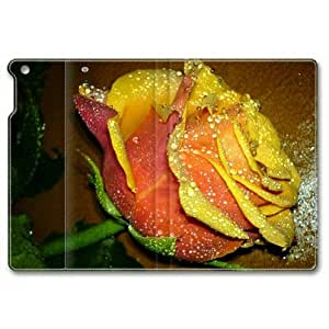 iPad Air Case, Rose Flower 02 Customized Design Slim-Fit iPad Air Case Folding Leather With Stand Cover for iPad 5