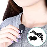 Neewer 2 PCS 3.5mm Hands-free Computer Clip on Mini Lapel Microphone (2X Microphones)