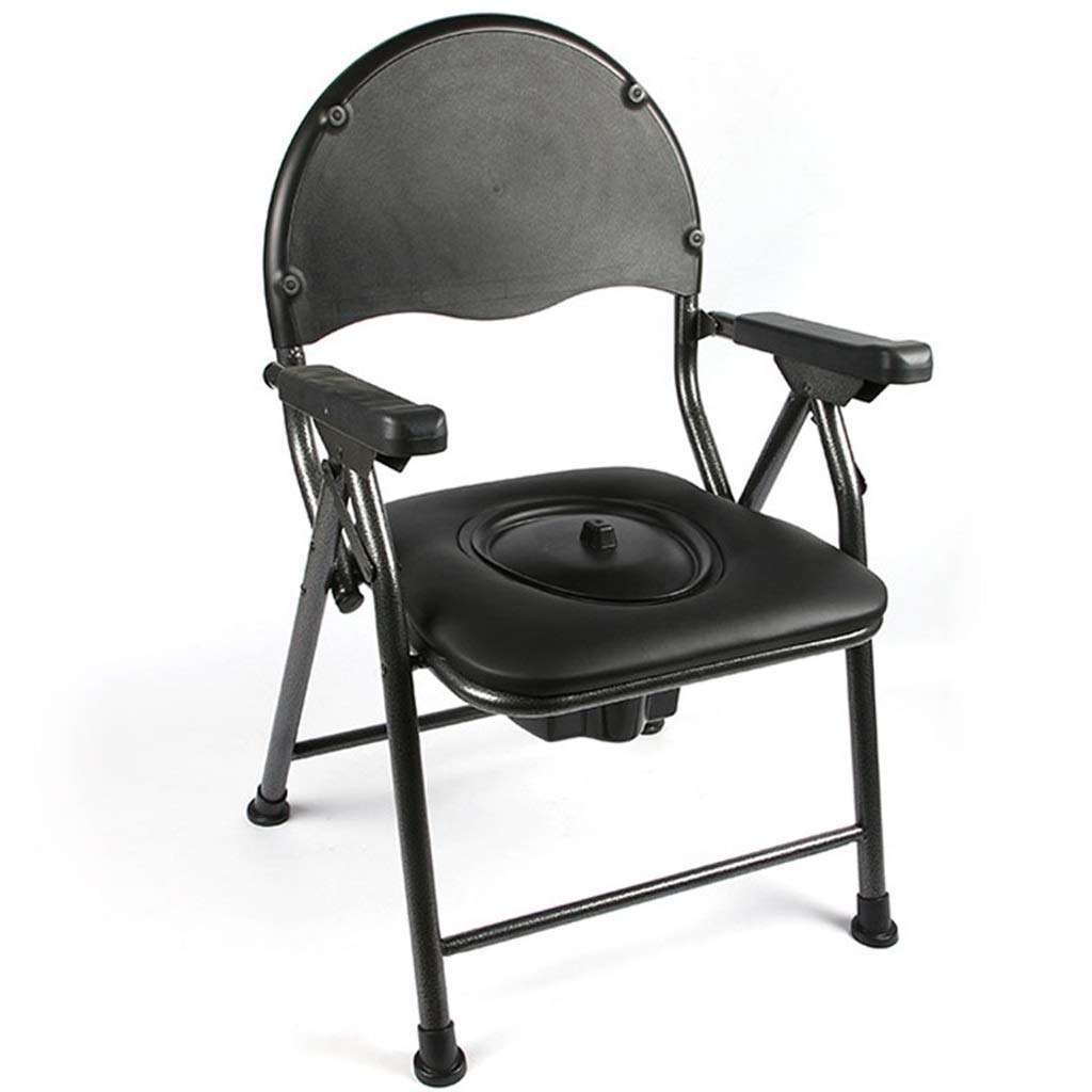 G-LXYZBQSHYP Bedside Toilet Chair Folding Lightweight Commode Suitable for The Elderly, Pregnant Women, Disabled People by G-LXYZBQSHYP