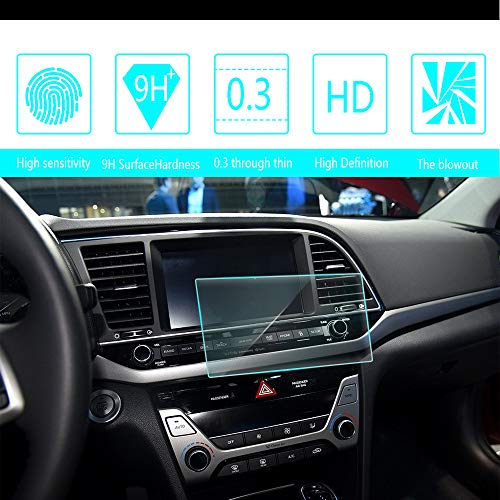 8X-SPEED for Hyundai Elantra 6.2-Inch 137x76mm Car Navigation Screen Protector HD Clarity 9H Tempered Glass Anti-Scratch, in-Dash Media Touch Screen GPS Display Protective Film (137 Glasses)