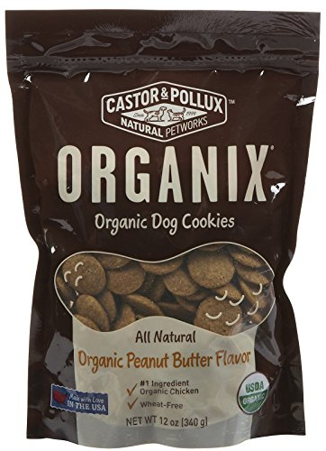 Castor & Pollux Organix Dog Cookies Peanut Butter, 12 oz - Organix Dog Cookies