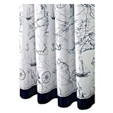 Waterproof Fashion Design Shower Curtain Blue Shower Curtains, 180x180 cm