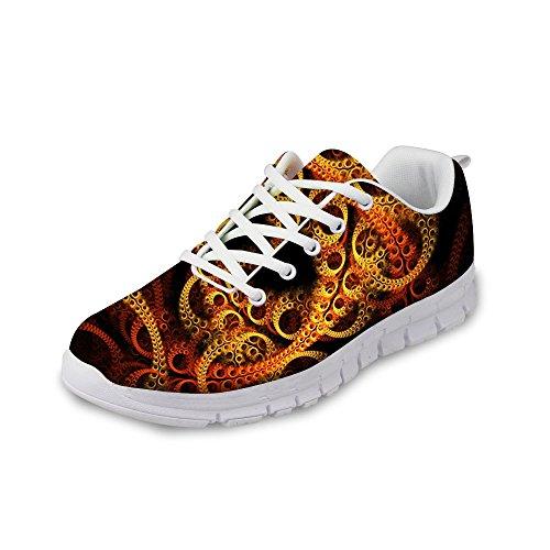 Per Te Design Sneaker Alla Moda Da Donna Alla Moda Lace-up Traspirante Robusta Scarpe Da Corsa Marrone 2
