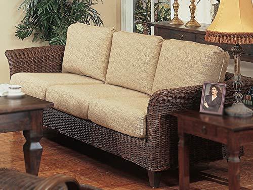 kingrattan.com Real Wicker Living Room Furniture Sofa Couch (Choice of Fabrics) (#1820)
