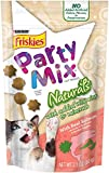 Friskies Party Mix Cat Treats, Naturals, Salmon with Accents of Sunflower & Garden Greens, 2.1-Ounce Pouch, Pack of 10
