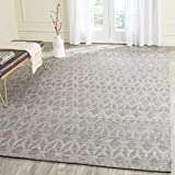 Safavieh Cape Cod Collection CAP415A Hand Woven Geometric Grey and Gold Jute and Cotton Area Rug (6' x 9')