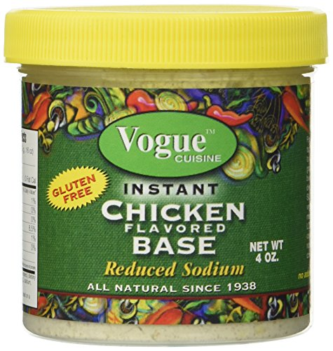 (Vogue Cuisine Chicken Soup & Seasoning Base 4oz (1 Jar) - Natural, Reduced Sodium & Gluten-free )