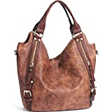 Kyпить JOYSON Women Handbags Hobo Shoulder Bags Tote PU Leather Handbags Fashion Large Capacity Bags Coffe на Amazon.com