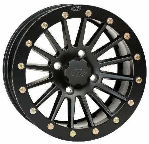 ITP SD Series Dual Beadlock Wheel - 14x7 - 5+2 Offset - 4/137 - Black, Bolt Pattern: 4/137, Rim Offset: 5+2, Wheel Rim Size: 14x7, Color: Black, Position: Front/Rear 1428550536B ()