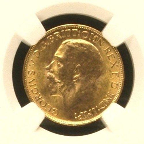 1927 ZA South Africa 1927 SA Gold Coin Full Sovereign Kin coin MS 63 NGC