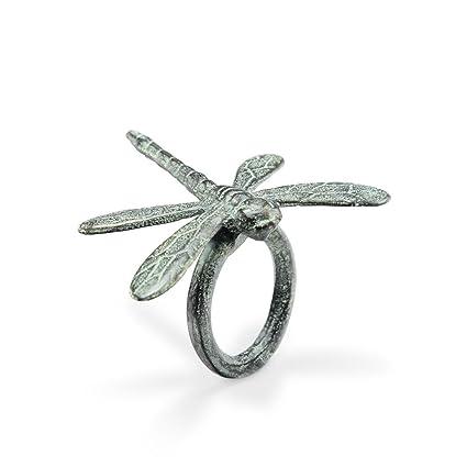 a778ef8d24b17 Viridian Bay Whimsical Dragonfly Napkin Rings Set of 6