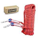 Syiswei Static Rock Climbing Rope 12MM, Upgraded