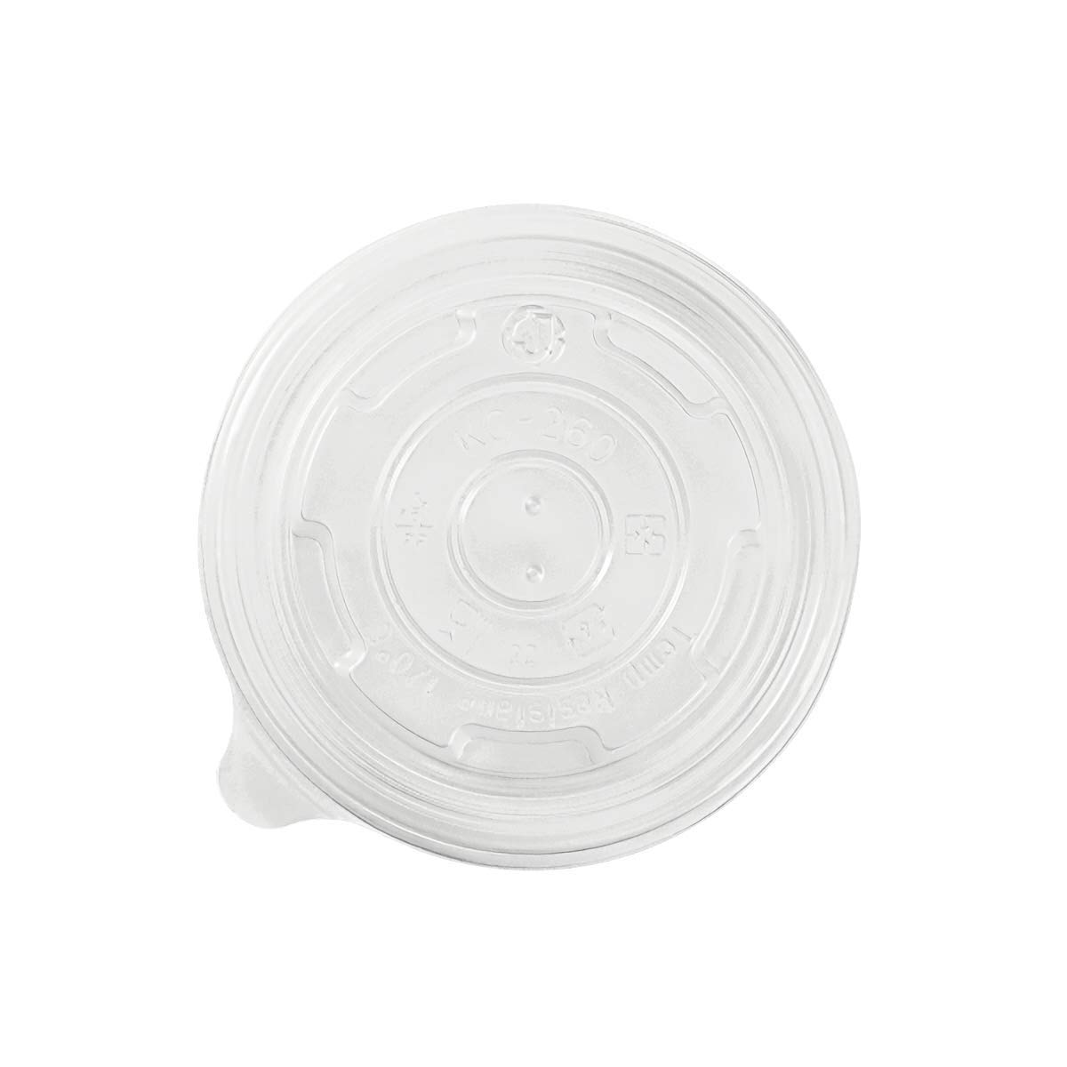 Karat C-KDL95-PP 8 oz PP Food Container Flat Lids (Case of 1000)