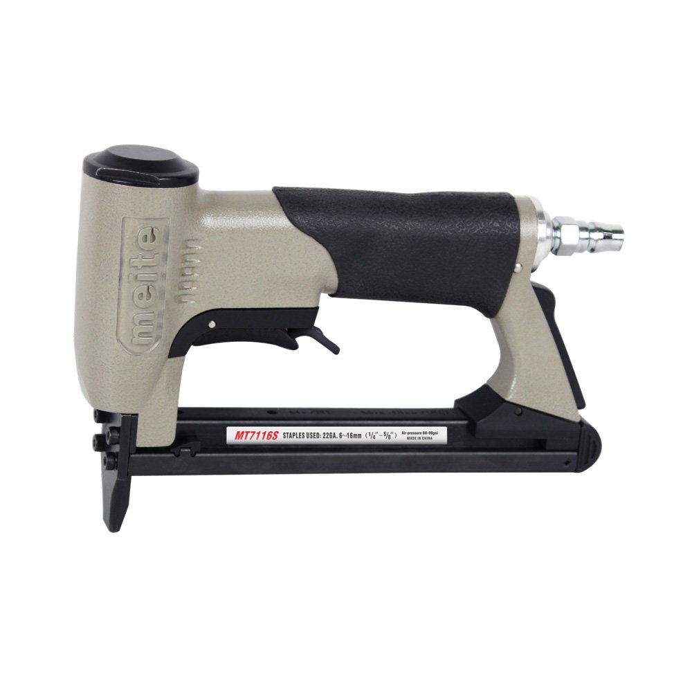 meite MT7116S Upholstery Stapler - 22 Gauge 71 Series 3/8'' Crown or C-Crown Fine Wire Stapler With Safety (1/4'' TO 5/8'' #MT7116S)
