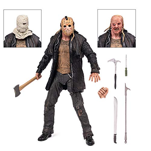 BODAN Jason Action Figure NECA Friday The 13th Jason Voorhees Statue Model Doll Horror Collection Gifts Ultimate 2009 Remake PVC 7