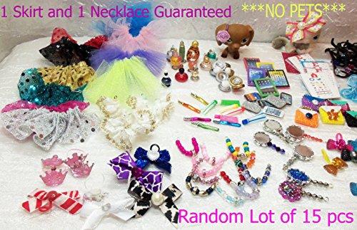 Littlest Pet Shop LPS 15 RANDOM Accessories Clothes Lot of 15 Custom Made No Pet