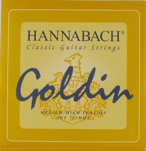 Hannabach Classical Guitar Goldin Medium/High Tension, 725