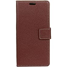 Alcatel A3 Plus Case,Gift_Source [Photo/Card Slots] [Wallet Function] Premium Soft PU Leather Folio Flip Kickstand Protective Cover Case & Magnetic closure for Alcatel A3 Plus (5.5 inch) [Brown]