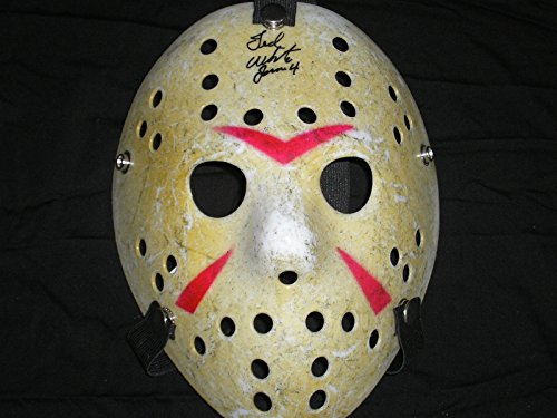 - TED WHITE Signed Hockey Mask Jason Voorhees Friday the 13th Part 4