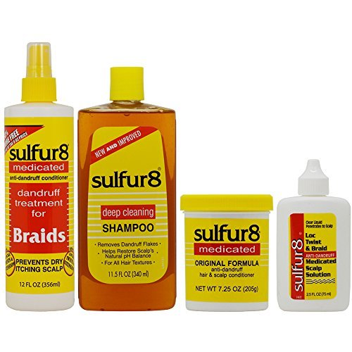 - Sulfur8 Anti-Dandruff Hair & Scalp Care 4-piece Set