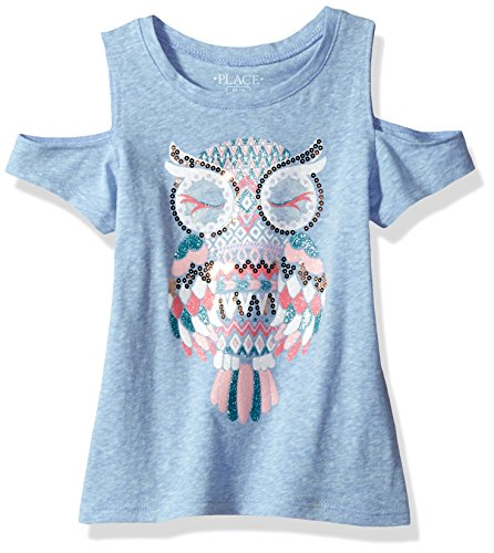 The Children's Place Big Girls' Cold Shoulder Top, Splshsplsh, M (7/8) (Girls Top)