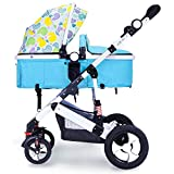 QXMEI Baby Stroller Can Sit Reclining Folding Newborn Shock Absorber Stroller High Landscape Baby Stroller,Multi-colored