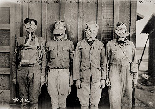 Print Collection American British French & German Gas Masks 36