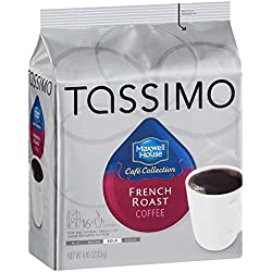 Maxwell House French Roast Coffee, Bold Roast, T-Discs for Tassimo Brewing Machines, 16 Count (Pack of 5)