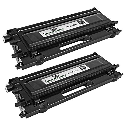 Speedy Inks - 2PK Remanufactured Brother TN115BK High Yield Black Laser cartridge for use in DCP-9040CN, DCP-9045CDN, HL-4040CDN, HL-4040CN, HL-4070CDW, MFC-9440CN, MFC-9450CDN, & ()