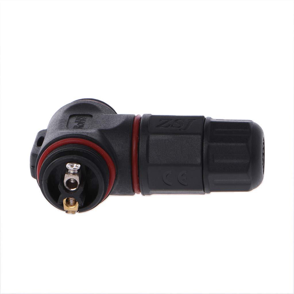 Noir ESden Bo/îte de jonction ext/érieure /étanche pour c/âble 2 Broches 3 Broches 8 mm-10 mm en Forme de T
