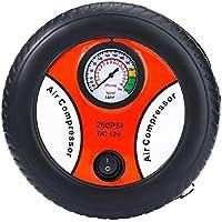 Mini Car Inflatable Pump Air Pumping Tire Pumps DC 12V Electric Tyre Pressure Monitor Compressor Portable for Bike Motor Ball