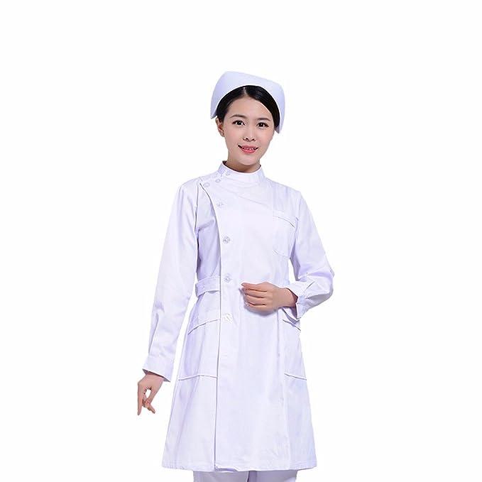 Xuanku Ropa De Verano Enfermera Servicio De Belleza Farmacia De Manga Corta Batas Blancas De Manga