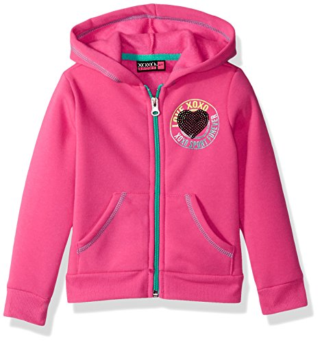XOXO Toddler Girls' Fleece Logo Hoodie, Pink Glow, 2T