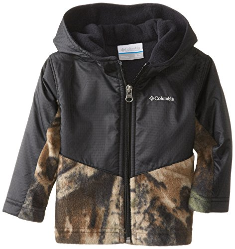 (Columbia Baby Boys' Steens Mt Overlay Hoodie, Timberwolf/Black, 18-24 Months)
