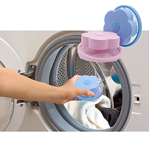 HaloVa Washing Machine Hair Ball, Washing Machine Hair Removal Device, Laundry Filter, Floating Laundry Bags Balls for Hair Wool Threads Removal, Reusable